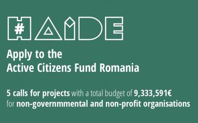 Cea de-a doua runda de apeluri din cadrul Active Citizens Fund - Romania este deschisă începând de azi, până pe 20.04.2021