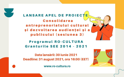 The last session (round 3) - cultural entrepreneurship (2.600.000 euro) is open