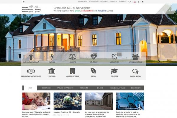 Lansarea noului website al Granturilor SEE și norvegiene în România