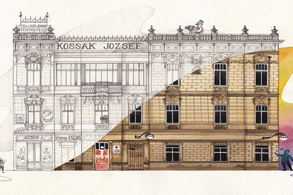 Ilustrație realizată de Dushky pentru Heritage of Timișoara