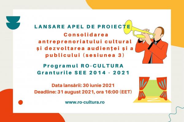 Ultimul apel - antreprenoriat cultural (2.600.000 euro) este de azi deschis
